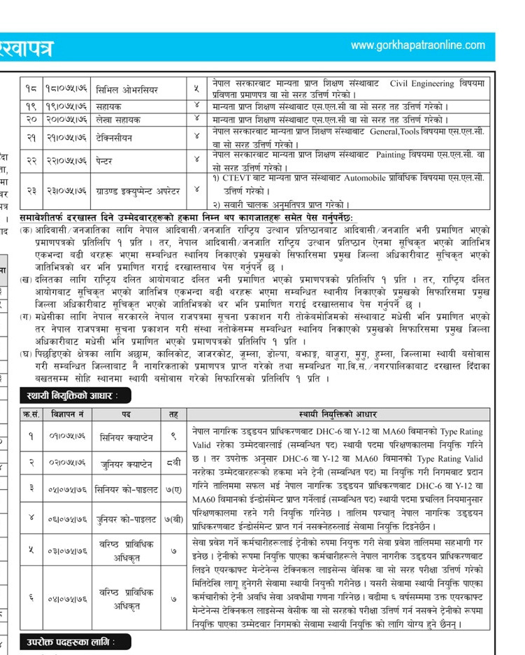 job at nepal airlines