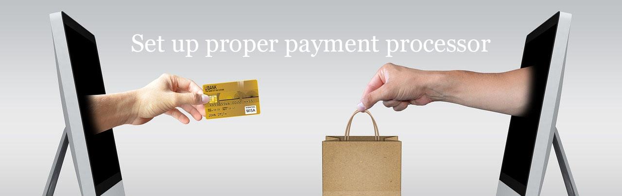 setup propre payment processor