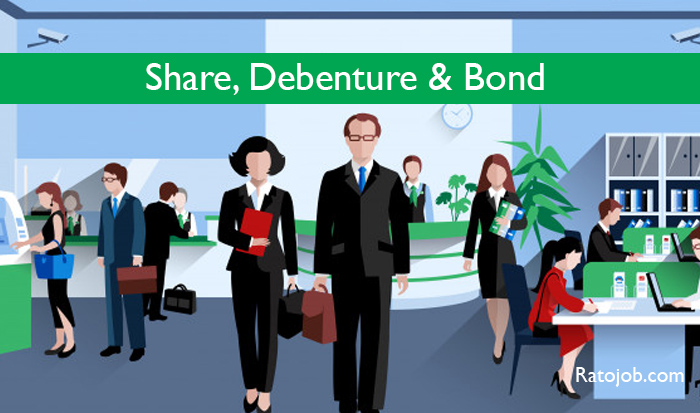 what is share debenture and bond